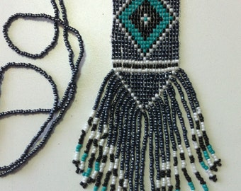 Beaded bohemian necklace