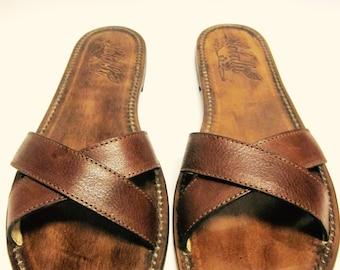 Criss-cross sandal man