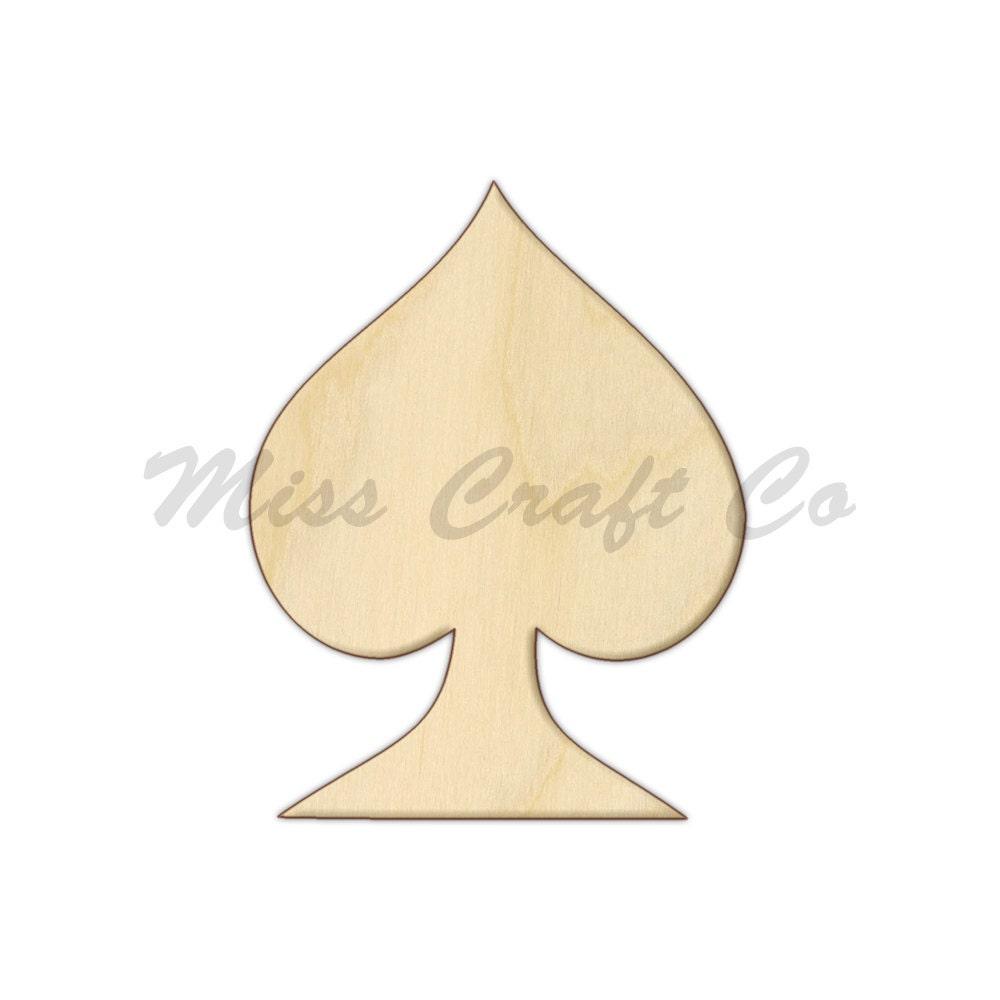 Poke Live Dcf Shapes: Poker Spades Wood Craft Shape, Unfinished Wood, DIY