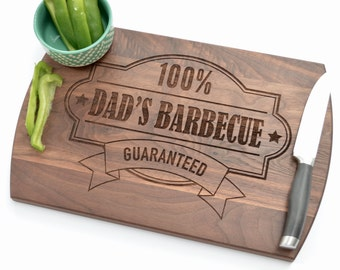 Custom Cutting Board, Personalized Gift for Dad, Father's Gift, Barbecue, BBQ, Kitchen Gift, Dad's Kitchen, Gift for Men, Cutting Board