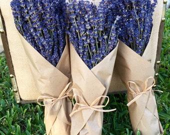 Dried French Lavender Bundle w/ Kraft Paper