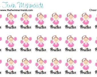 Cheer Practice Planner Stickers