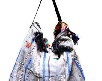 Maxi Boho Bag ethnic embroidery leather