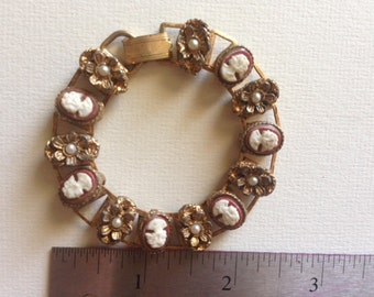 Cameo bracelet (to use cameos for doll jewelry)