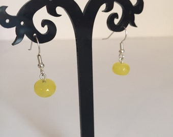 Dyed Yellow Quartz earrings