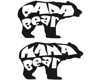 Papa bear Svg, mama bear svg, mama bear clipart - bear clipart  svg, dxf, eps