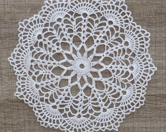 PLACEMAT WHITE LACE of Crochet approx. 19/20 cm (Cora)