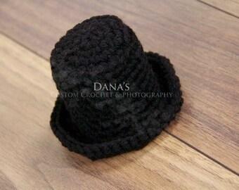 Newborn Crochet Top Hat Photography Prop - Crochet - Handmade - Photography Prop - Kids - Children - Gift
