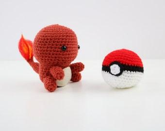 Made to Order - Kawaii Pokemon Amigurumi Doll - Crochet - Charmander