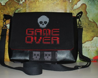 Game Over Small Messenger Bag (Made to Order)