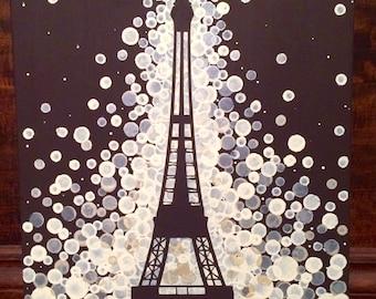 Eiffel Tower Painting//Paris Painting