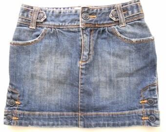Jean mini skirt | Etsy