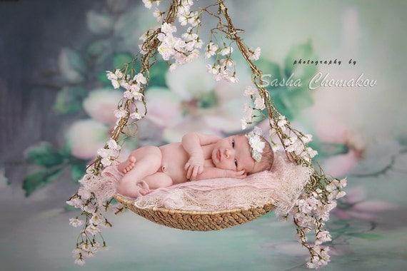 digital backdrop background newborn baby girl fairy tails