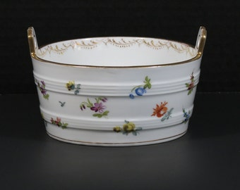 Richard Klemm Dresden Hand Decorated Porcelain Bowl in Pristine Condition!