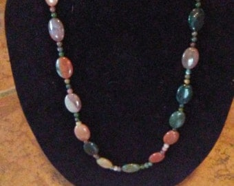 Beaded Stone Look Necklace