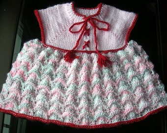 Hand-knit baby dress (1T-2T)