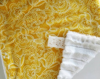 Mustard Gold Lace Lovey