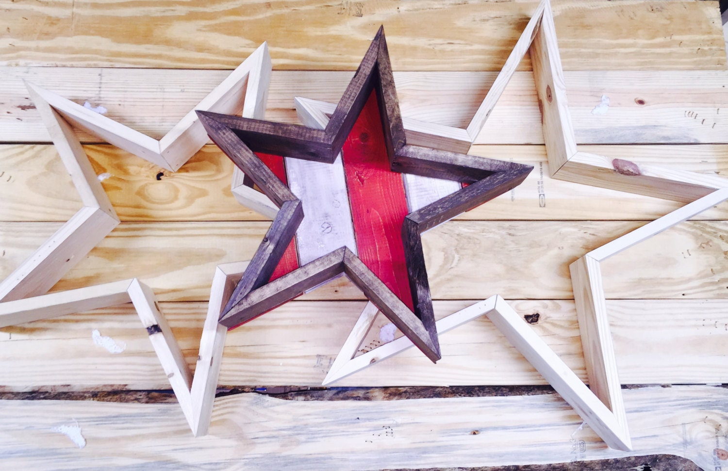 Reclaimed Wood Star TN Art Home Decor Reclaimed Wood By Maydby