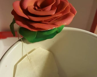 Rose tea bag holder