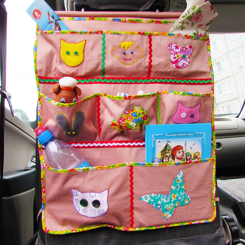 car organizer for toys storage patchwork toddler car traveling