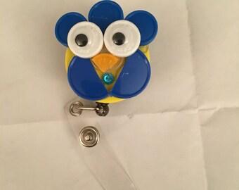 Mr bird ID badge holder