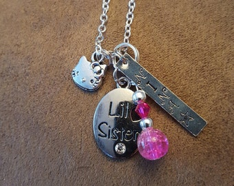 Little Sister charm necklace