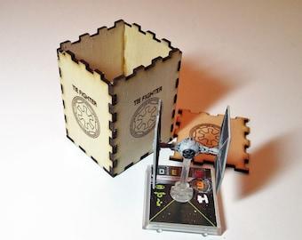 X-Wing Miniature Game Tie Fighter Laser Cut Storage Box