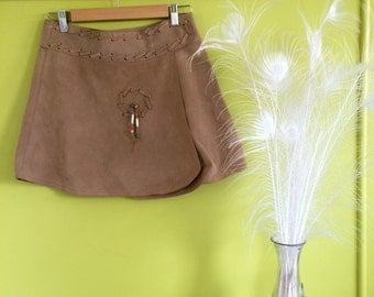 The 'Dreamcatcher' skirt - 100% suede leather