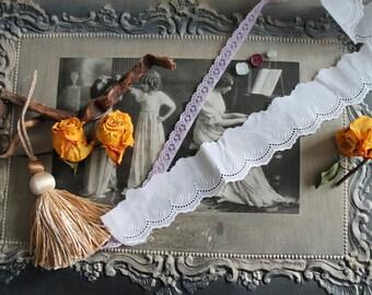 Braid lace / lace Vintage / Vintage / eyelet / old lace / lace lace Parma elastic / CA. 1950