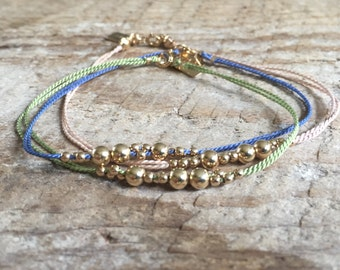 Gold Filled Bubble Bead Bracelet/Stackable