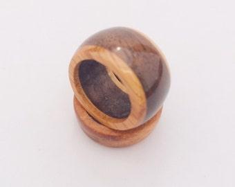 Black Walnut and White Oak Ring