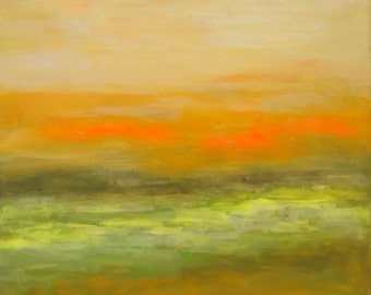 Landscape abstract original painting on canvas