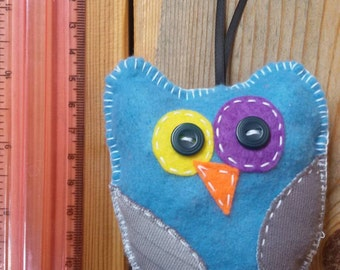 Handmade stuffed owl toy