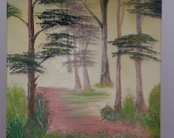 Dazzling forest original oil painting 60 x 80