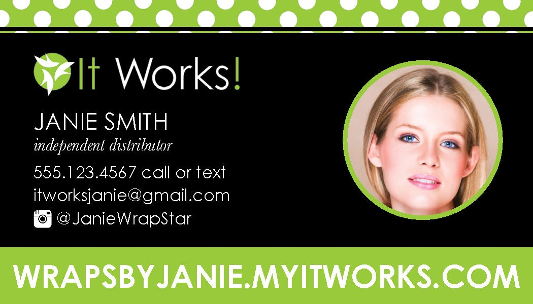 It Works Green Dot Business Card PRINTABLE by