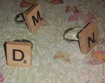 Quirky Scrabble Ring