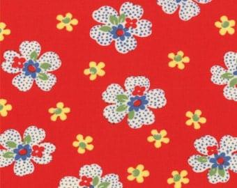 FQ - Ducks in a Row by American Jane for Moda Fabrics, Cherry 21654-11 Fat Quarter ***SALE