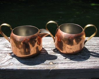Vintage Coppercraft Guild Cream and Suger Set