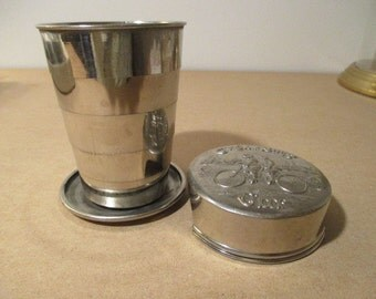 Vintage Collapsible Cyclist cup