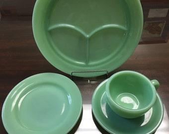 Vintage FireKing Jadeite Dish Set