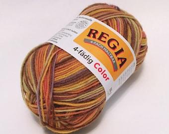 Sock Yarn Destash: Schachenmayr Regia 4-Ply Color Yarn - 5445 - Bella Color | Regia Sock Yarn (discontinued)