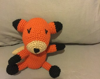 Crochet rattle fox