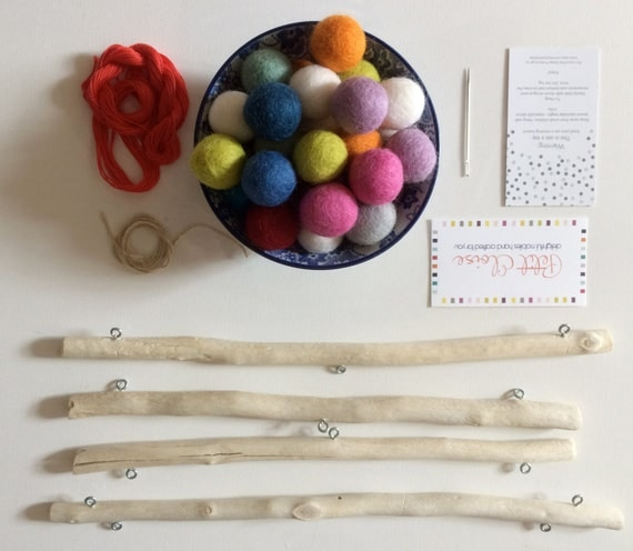 DIY Felt Ball Mobile Kit