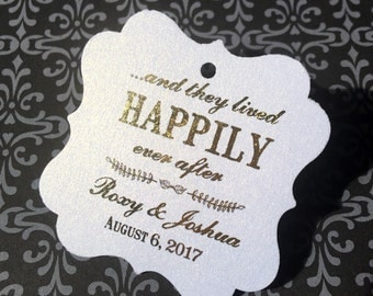 Wedding favor tag, thank you tag, happily ever after