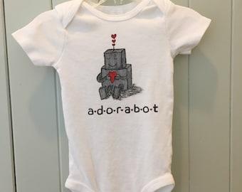 Adorabot infant robot onsie