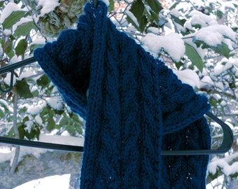 Set of Two Cabled Scarf Knitting Patterns