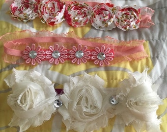 Floral and bling headband