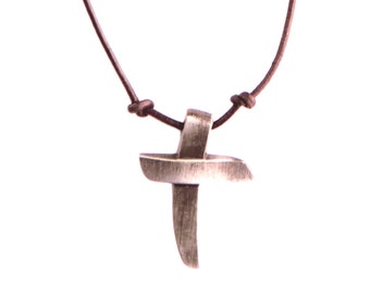 Rugged Cross Necklace (Adjustable)