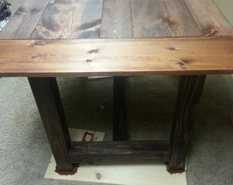 6 ft by 3ft wood table