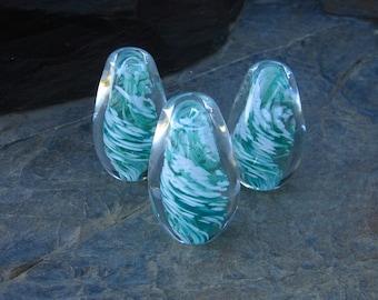Hand Blown Glass Egg Sculpture